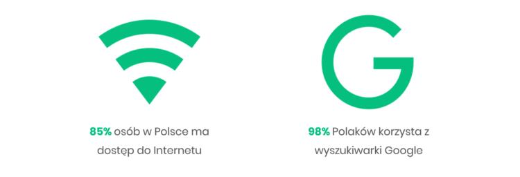 pozycjonowanie stron - Internet w Polsce