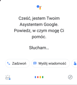 Voice search - asystent google