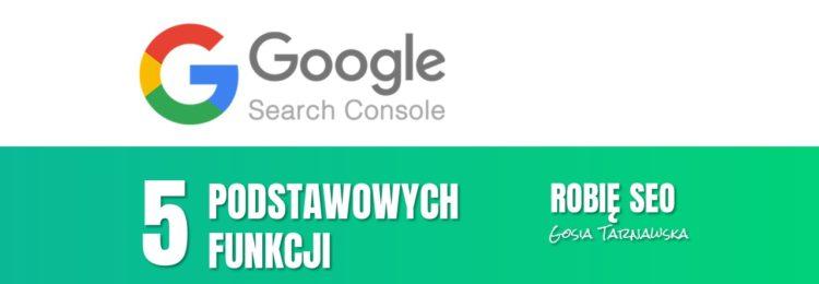 5 podstawowych funkcji Google Search Console – Vlog Robię SEO #6