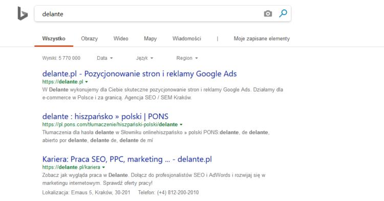 Alternatywy dla google, czyli Bing width=