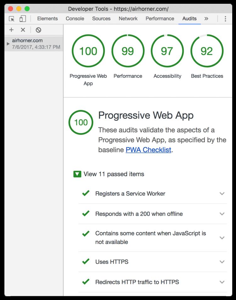 Chrome dev tools website loading time