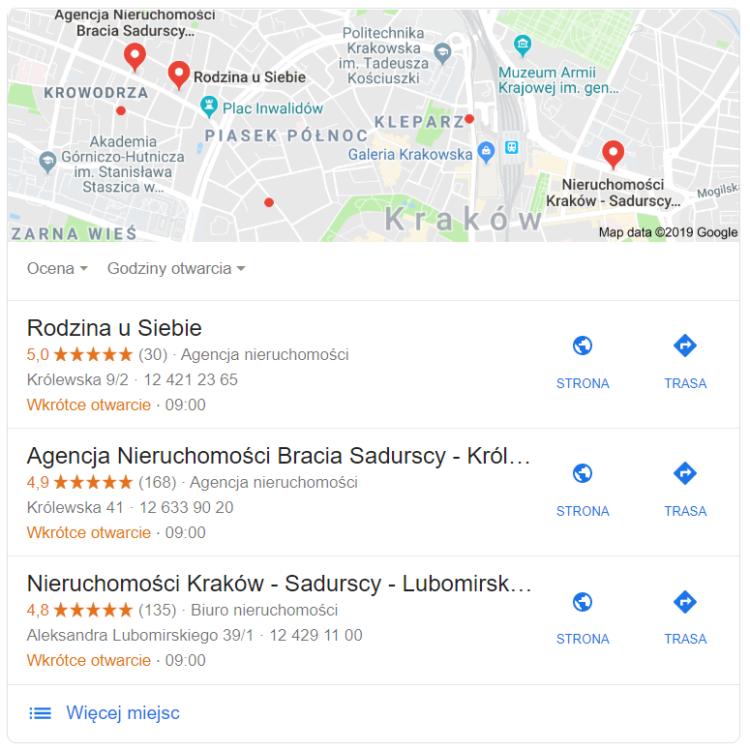 Mapy Google Branża Nieruchomości