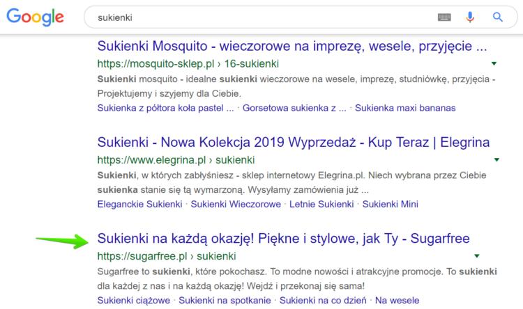 Triki w Google - niechciana witryna w wyszukiwaniach