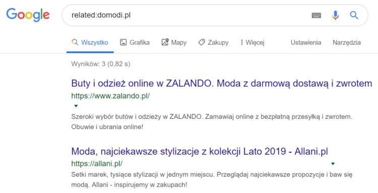 Triki Google - strony o podobnej treści