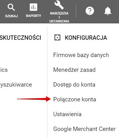 Połączenid z Google Analytics