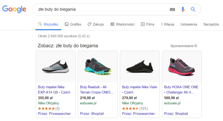 Bad search results