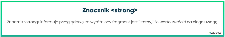 Znacznik strong definicja