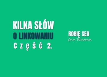 Ile, gdzie i jak linkować? Kilka słów o linkowaniu cz. 2. | Vlog Robię SEO #13