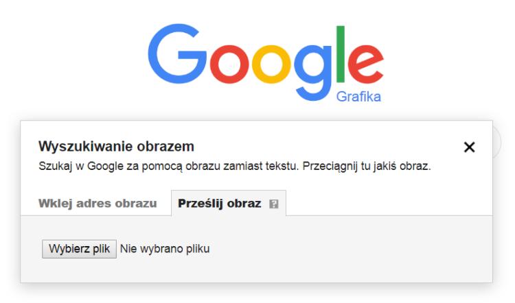 Szukanie obrazem Google Grafika - lokalizacja