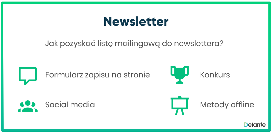 Lista mailingowa - newsletter