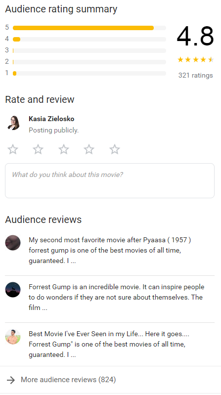 Dodawanie opinii w Google