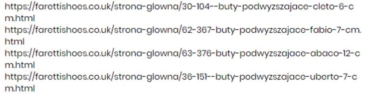 Faretti wrong URL
