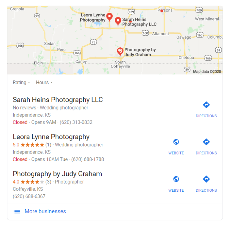 Google my business - wedding industry seo