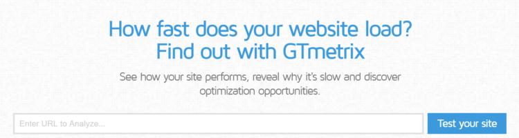 gtmetrix website loading time