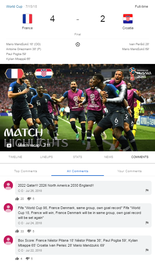 Komentowanie w Google - rozgrywki sportowe