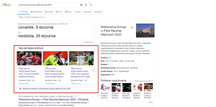 Portale informacyjne a SEO - newsy