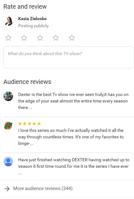 Opinie Google seriale