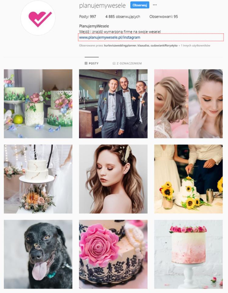 Social Media branża ślubna