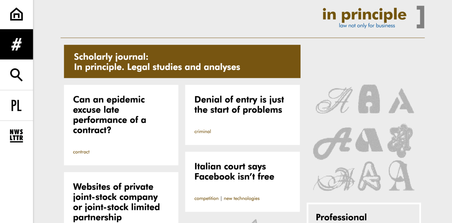 an example of a well designed legal website