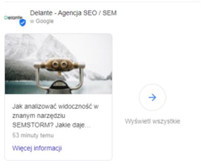 Google Moja Firma - wpisy