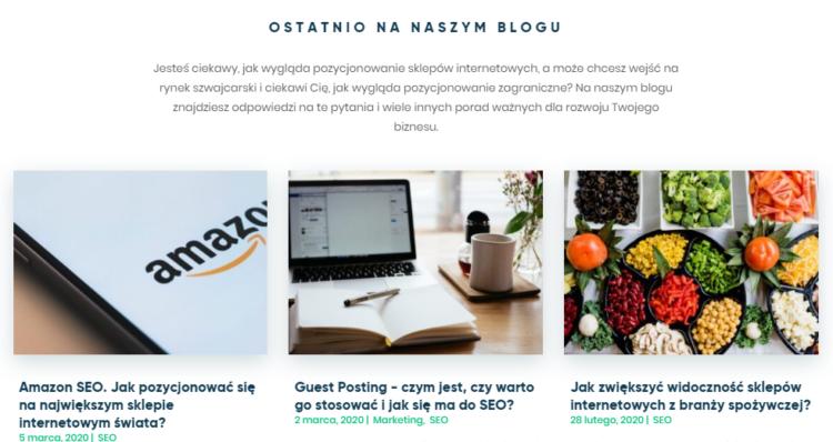 Widoczność strony - blog