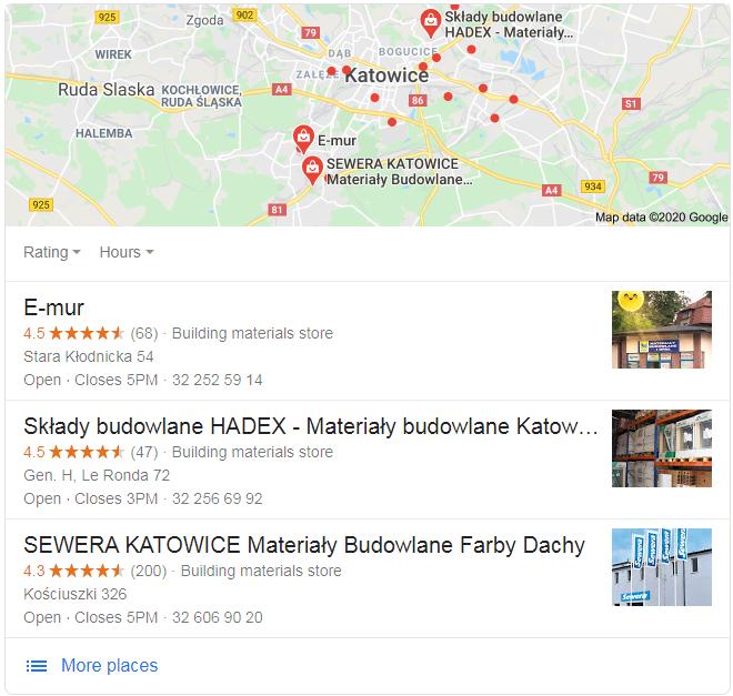 Google Moja Firma - branża budowlana