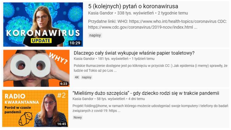 Koronawirus youtube