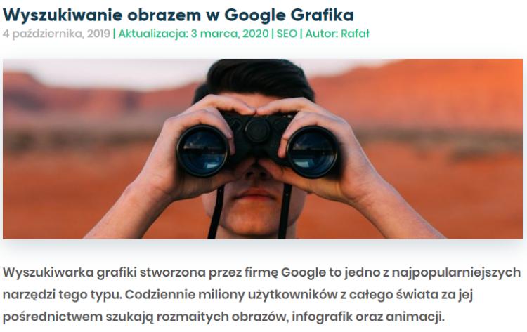 Treści evergreen - poradnik wyszukiwanie w google grafika