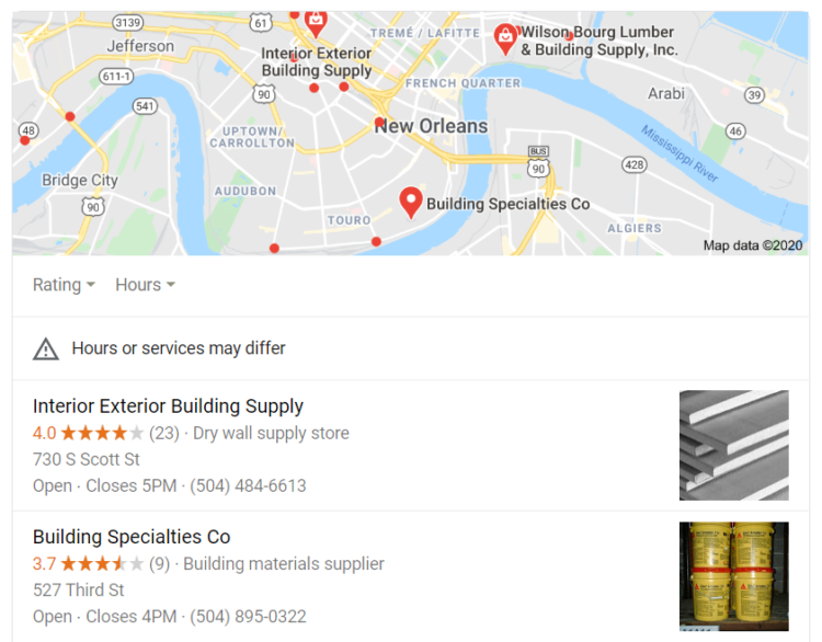 Construction industry - local seo