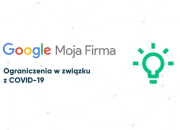 Ograniczenia w Google Moja Firma przez COVID-19