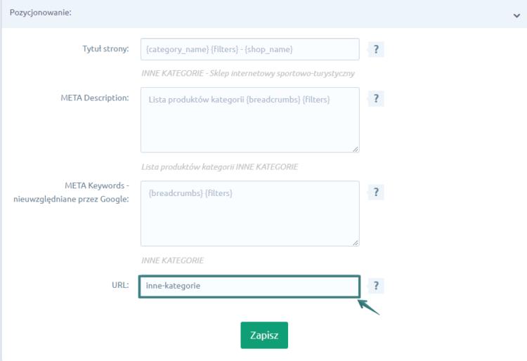 Tworzenie przyjaznych adresów URL kategorii na platformie Shoper