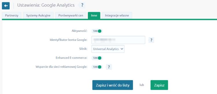 Integracja Google Analytics na platformie Shoper