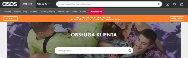 Obsługa klienta w e-commerce ASOS