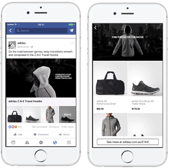 Specyfikacja reklam Facebook - kolekcja