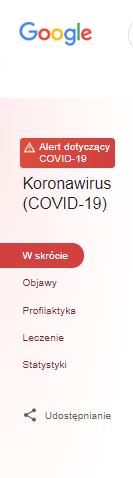 Usprawnienia od Google - koronawirus