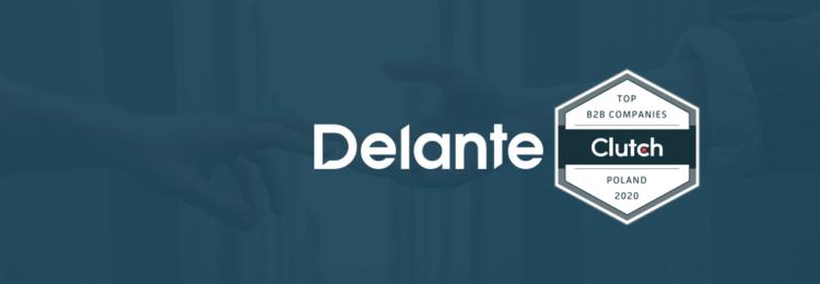 Delante wśród najlepszych firm B2B w Polsce według Clutch