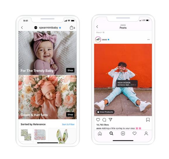 Screenshoty Zakupów na Instagramie