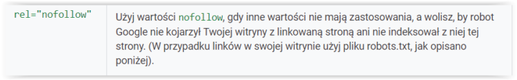 Nofollow - linki według Google