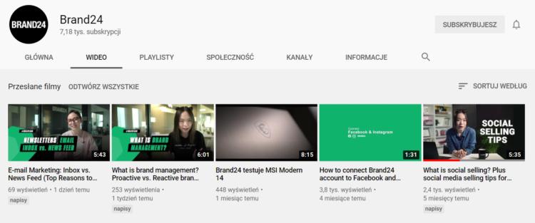 Content marketing - materiały video