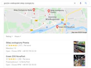 Gorzów Wielkopolski pozycjonowanie lokalne