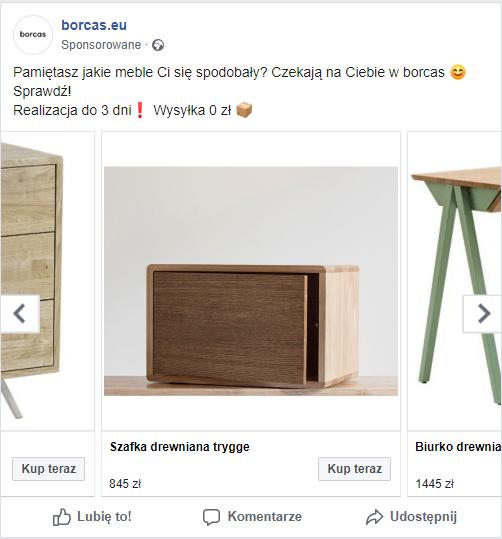 Kampania Facebook Ads - sprzedaż z katalogu