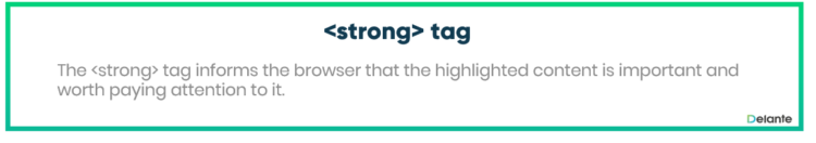 What is strong tag - definition