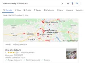 Warszawa pozycjonowanie lokalne