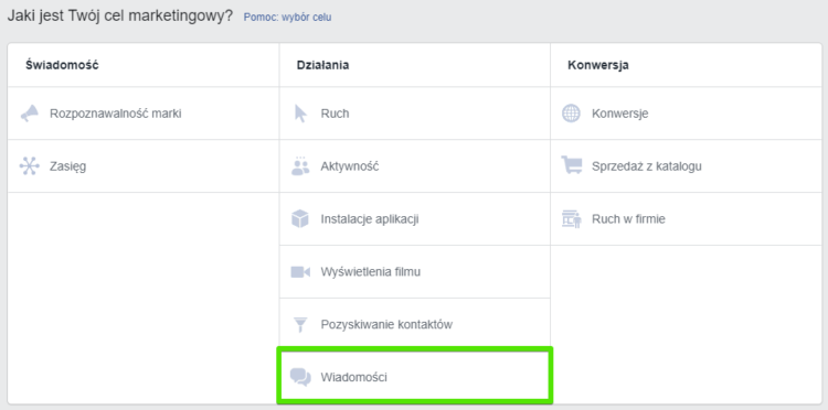 Facebook Ads - wiadomości