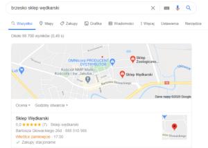 Pozycjonowanie brzesko mapa