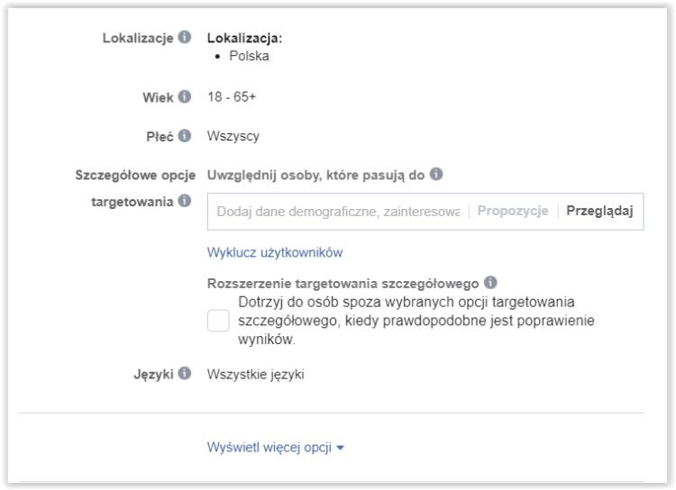Reklama na Facebooku - budżet