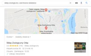 Pozycjonowanie czechowice dziedzice mapa
