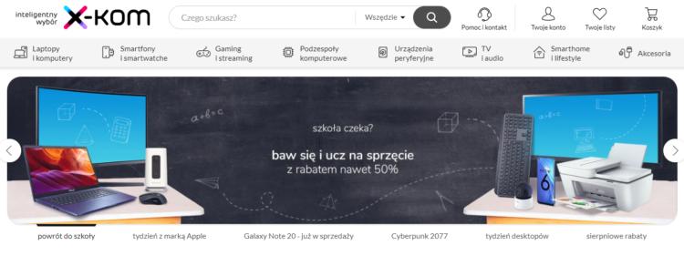 Interfejs sklepu internetowego