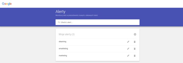 Jak zwiększyć ruch - Google Alerts