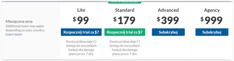 Koszt narzędzi SEO